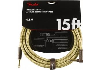 Fender Deluxe Series Instrument Cable Tweed Açılı - 4.5 metre - Enstrüman Kablosu
