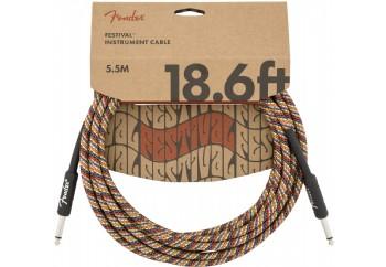 Fender Festival Hemp Instrument Cables 5.5 metre - Rainbow - Enstrüman Kablosu