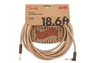 Fender Festival Hemp Instrument Cables 5.5 metre açılı - Natural - Enstrüman Kablosu
