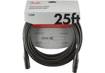Fender Professional Series Microphone Cable 7.5 metre - Black - Mikrofon Kablosu