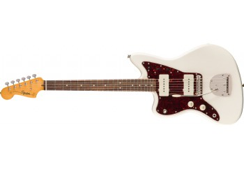 Squier Classic Vibe 60s Jazzmaster, Left-Handed Olympic White - Indian Laurel - Solak Elektro Gitar