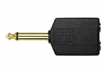 KIRLIN 2653G - 2x6.35 mm. Mono (Dişi) - 6.35 mm. Mono (Erkek)