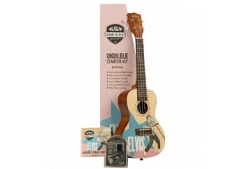 Kala Elvis Rockabilly Concert Ukulele Starter Kit - Concert Ukulele Eğitim Seti