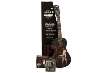 Kala Elvis Viva Las Vegas Concert Ukulele Starter Kit - Concert Ukulele Eğitim Seti