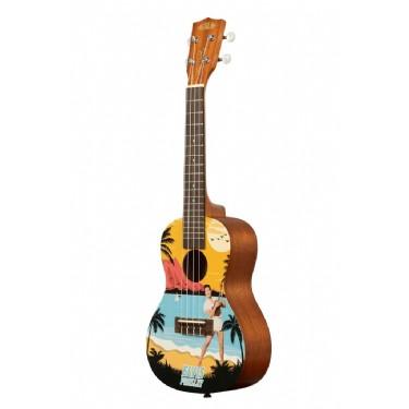 Kala Elvis Blue Hawaii Concert Ukulele Starter Kit