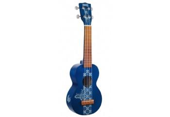 Mahalo Kahiko Batik Blue - Soprano Ukulele