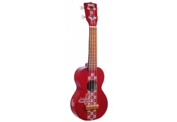 Mahalo Kahiko Batik Red - Soprano Ukulele