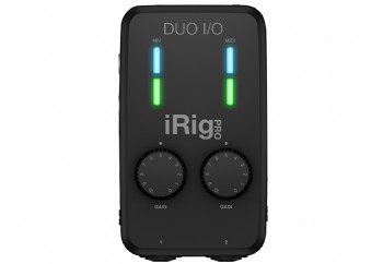 IK Multimedia iRig Pro Duo IO - 2-Giriş/2-Çkış Mobil Ses Kartı (iPhone/iPad/Mac/PC)