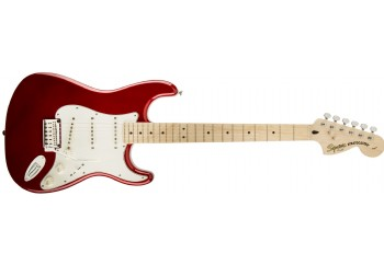 Squier Standard Stratocaster Candy Apple Red Maple - Elektro Gitar