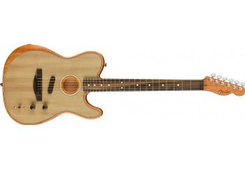 Fender American Acoustasonic Telecaster Sonic Gray - Ebony - Elektro Akustik Gitar