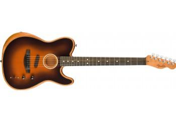 Fender American Acoustasonic Telecaster Sunburst - Ebony - Elektro Akustik Gitar