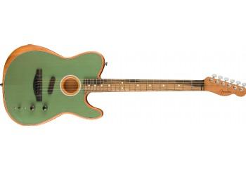 Fender American Acoustasonic Telecaster Surf Green - Ebony - Elektro Akustik Gitar