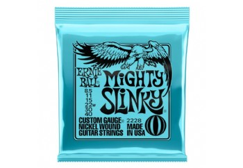 Ernie Ball 2228 Nickel Mighty Slinky Electric Guitar Strings Takım Tel - Elektro Gitar Teli 8.5-040
