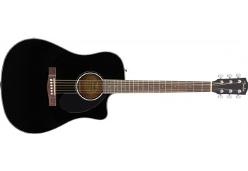 Fender CD-60SCE Dreadnought Black - Elektro Akustik Gitar