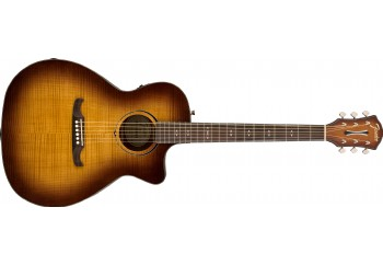 Fender  FA-345CE Auditorium 3-Tone Tea Burst - Elektro Akustik Gitar