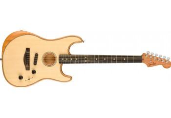 Fender American Acoustasonic Stratocaster Natural - Ebony - Elektro Akustik Gitar