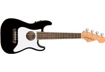 Fender Fullerton Strat Uke Black - Elektro Concert Ukulele