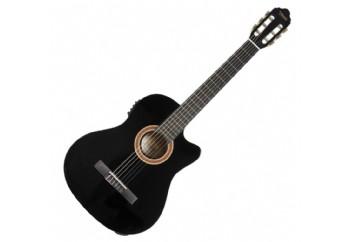 Valencia VC104TCE Black - Elektro Klasik Gitar