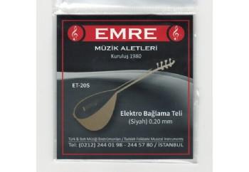 Emre 0.20 mm Siyah Takım Tel - Elektro Bağlama Teli 020