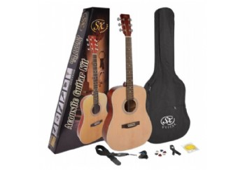 SX SD204K 4/4 Acoustic Guitar Pack Naturel - Akustik Gitar Seti