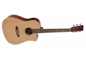 SX SD204CE Cutaway Natural - Elektro Akustik Gitar