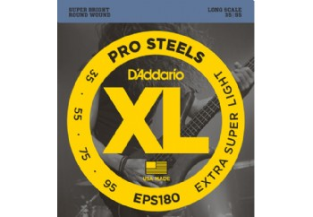 D'Addario EPS180 ProSteels Bass, Extra Super Light, 35-95, Long Scale 035-095 Takım Tel - Bas Gitar Teli