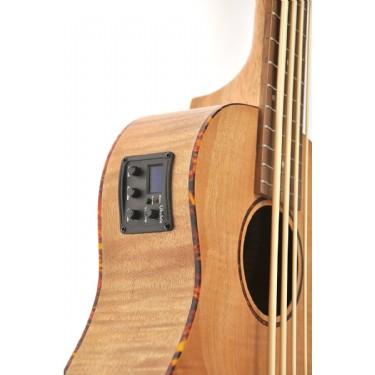 Moon UKE Bass Ukulele EQ (Flame Maple)