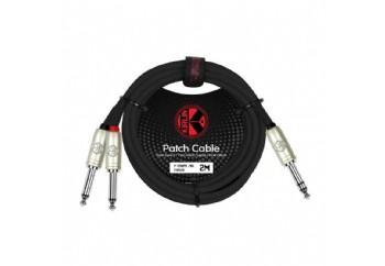 KIRLIN Y-336PR-2MBK - 1/4' inch TRS Plug - 2x 1/4'' Mono TRS Y Kablo ( 2 metre)