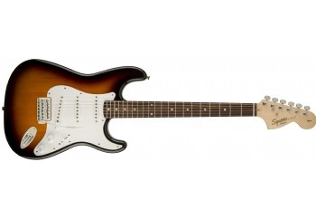 Squier Affinity Strat Brown Sunburst - Indian laurel - Elektro Gitar
