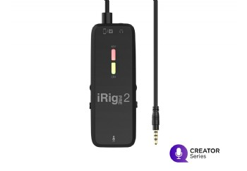 IK Multimedia iRig Pre 2 - iOS, Android ve DSLR kamera için XLR Mikrofon Preamp