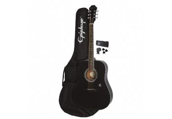 Epiphone FT-100 Player Pack Ebony - Akustik Gitar Seti