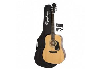 Epiphone FT-100 Player Pack Naturel - Akustik Gitar Seti