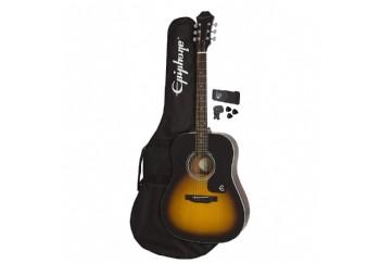 Epiphone FT-100 Player Pack Vintage Sunburst - Akustik Gitar Seti