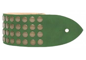 Tabaq Metal Rain - Sarı Çıtçıtlı Orman Yeşili - Deri Gitar Askısı