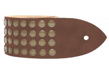 Tabaq Metal Rain - Sarı Çıtçıtlı kahverengi - Deri Gitar Askısı