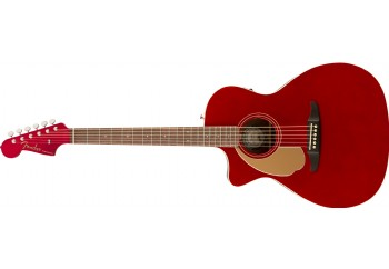Fender Newporter Player LH Candy Apple Red - Walnut - Solak Ekeltro Akustik Gitar