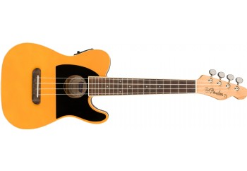Fender Fullerton Tele Uke Butterscotch Blonde - Walnut - Elektro Concert Ukulele