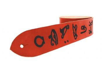 Tabaq Hieroglyph Kiremit - Deri Gitar Askısı