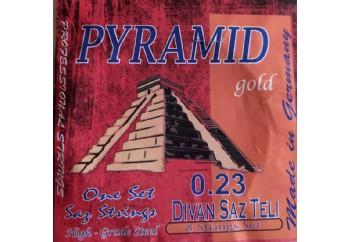 Gold GD23P Takım Tel - Divan Saz Teli Pyramid 023