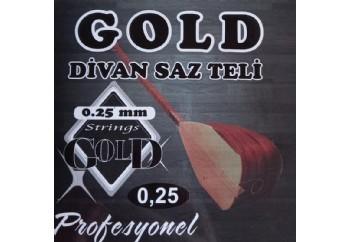 Gold GD25 Takım Tel - Divan Saz Teli 025