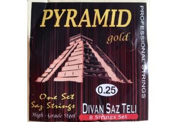 Gold GD25K Takım Tel - Divan Saz Teli Pyramid 025