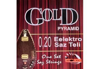 Gold GE20S Takım Tel - Elektro Saz Teli Siyah 020
