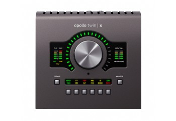 Universal Audio Apollo Twin X Duo - Heritage Edition - Duo Core DSP işlemcili, 2 x 6, 2 mikrofon preamp Thunderbolt 3 ses kartı - Zengin Plug-IN paketi ile birlikte (2 DSP) (Mac/PC)