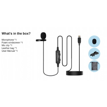 CKMOVA LCM2L Lavalier Microphone for iOS Lightning Devices