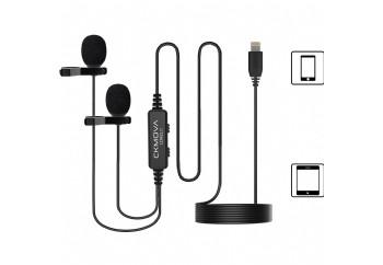 CKMOVA LCM2LD Dual-Head Lavalier Microphone for iOS Lightning Devices - Condenser Yaka Mikrofonu