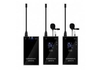 CKMOVA UM100 Kit2 Ultra-Compact UHF Wireless Microphone - Telsiz Mikrofon Sistemi (Wireless-Kablosuz)