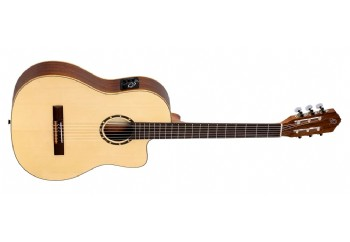 Ortega RCE125SN Thinline Family Series Natural - Elektro Klasik Gitar