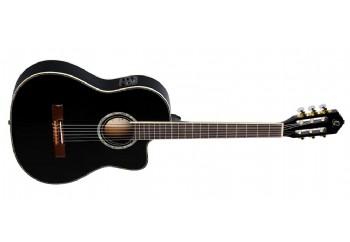 Ortega RCE145 Thinline Family Series Pro Siyah - Elektro Klasik Gitar