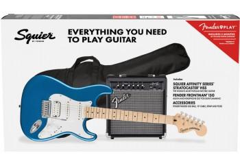 Squier Affinity Strat HSS LRL CFM Frontman 15G Set Lake Placid Blue - Elektro Gitar Seti