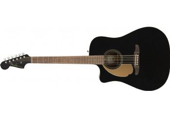 Fender Redondo Player LH  Black - Solak Elektro Akustik Gitar